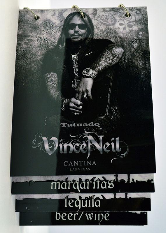 Vince Neil Menu
