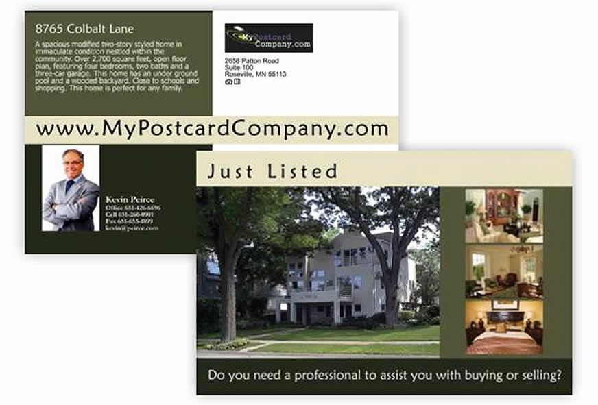 real estate postcard samples