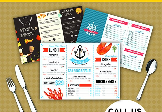 Full-Color Disposable Placemats & Menus